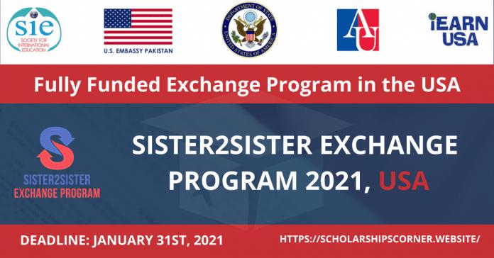 Sister2sisters summer exchange program for female Pakistani 2021